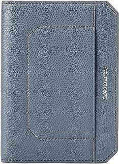 ALBRINT Travel Passport Holder RFID Blocking Leather Passport Wallet Slim Cover, Basalt Grey