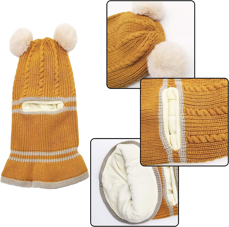 Kids Winter Hat Scarf Mitten Set Unisex Infant Toddler Baby Kids Hat Scarf 1-4T