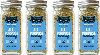 Noble Made by The New Primal All Purpose Seasoning Versatile Spice & Dry Rub, 2.1 Oz Glass Jars (4 Count) - USDA Organic, ...