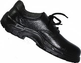 Karam Grain Leather Safety Shoes FS-05BL Anti fatigue - Size 9, Black