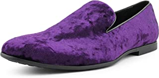 Hauser - Men's Slippers - Mens Loafers - Designer Shoes for Men - Crushed Velvet, Luxurious, Mens Slip On Shoes - Mens Casual Shoes - Tuxedo Shoes Runs Small GO 1/2 Size UP