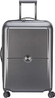 Delsey Paris Turenne 70 cm 4 Double Wheels Expandable Trolley Suitcase (Hardside), Silver (00162182011)