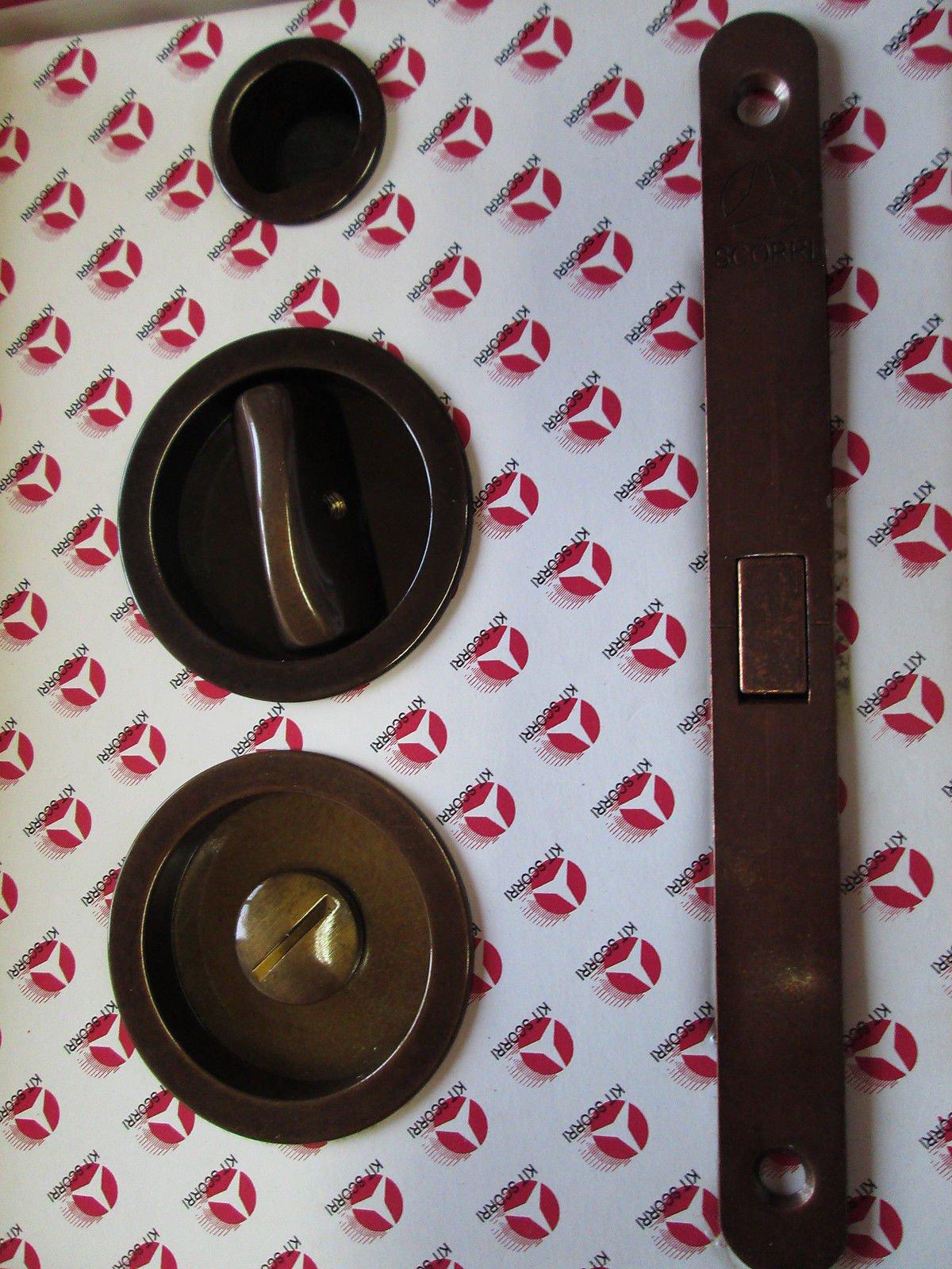 Kit puerta corredera puertas correderas redondo C/cerradura scorri GHIDINI Tirador: Amazon.es: Bricolaje y herramientas