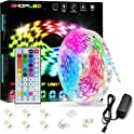 SHOPLED 16.4-feet Color Changing RGB LED Strip Lights with Remote