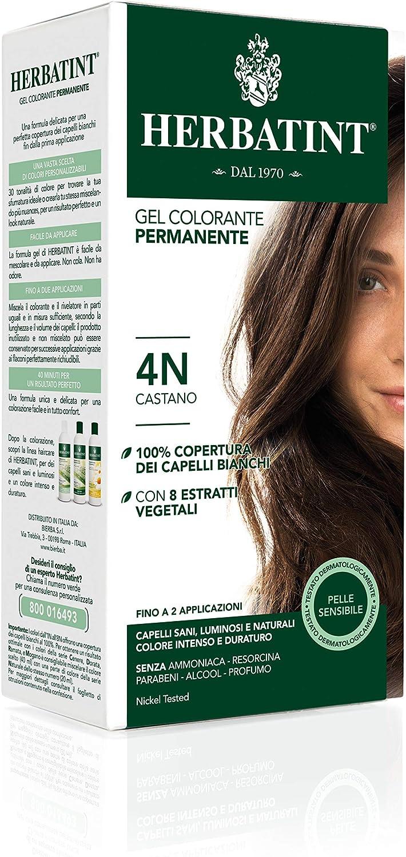 Herbatint 4N - Gel colorante permanente a base de hierbas Castaño 150 ml