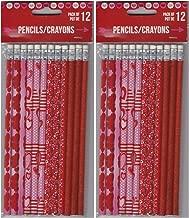 24 Valentines Holiday Theme Pencils