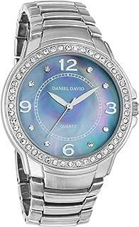 Daniel David Women's | Glamourous Rainbow Mother-of-Pearl Silver-Tone Metal Bracelet Watch | DD11102