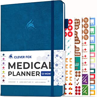 Clever Fox Medical Planner 12-Month – Medical Notebook, Health Diary, Wellness Journal & Logbook to Track Health – Self-Ca...