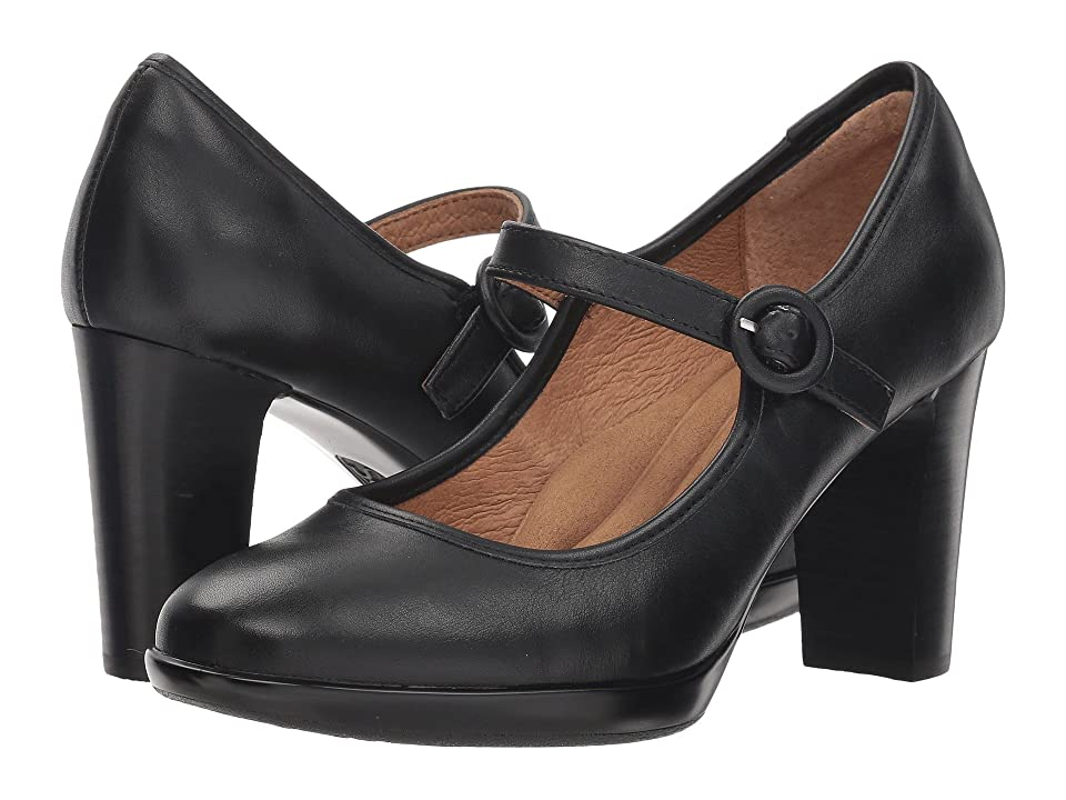 1930s Style Shoes – Art Deco Shoes Sofft Natara Black Swank High Heels $99.95 AT vintagedancer.com