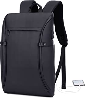 Laptop Backpack, Beyle Travel Computer Backpack for Women & Men, Waterproof Anti Theft School College Bag,Business Backpacks with USB Charging Port Fits 15.6 Inch Laptop and Notebook, Black (Black)