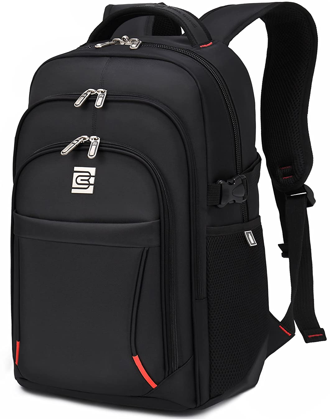 VEVESMUNDO Laptop Backpack 15.6 16 17 INCH College School Travel Business Outdoor Waterproof Daypack for Dell HP Lenovo MacBook Acer Men (16 INCH Backpack)