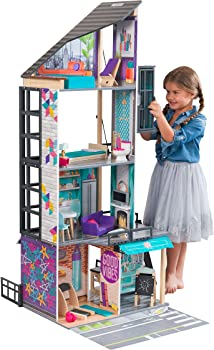 KidKraft Bianca City Life Dollhouse with 26 Accessories Included
