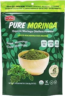 Pocas Pure Organic Moringa Powder, 8 Ounce (Pack of 2)