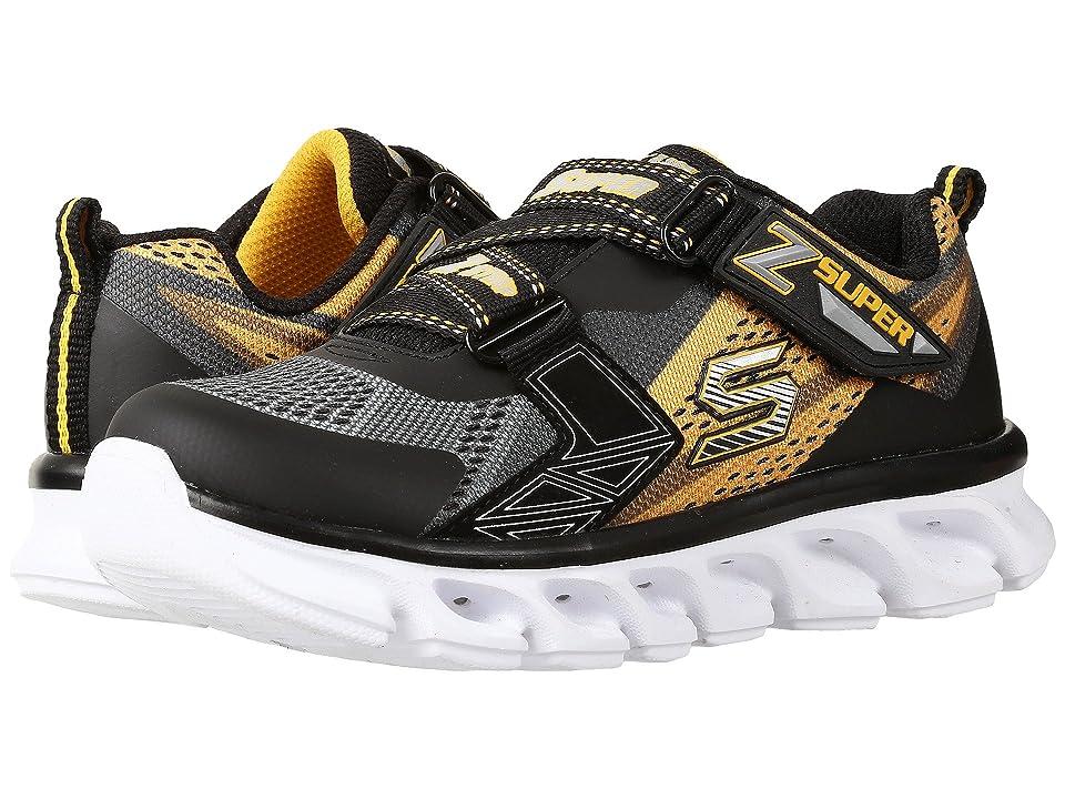 SKECHERS KIDS Hypno Flash 90580L Lights (Little Kid) (Charcoal/Gold/Black) Boys Shoes