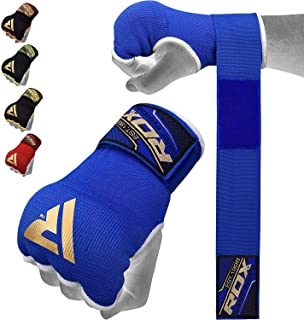 RDX Boxing Hand Wraps Inner Gloves for Punching – Elasticated Padded Bandages Under..