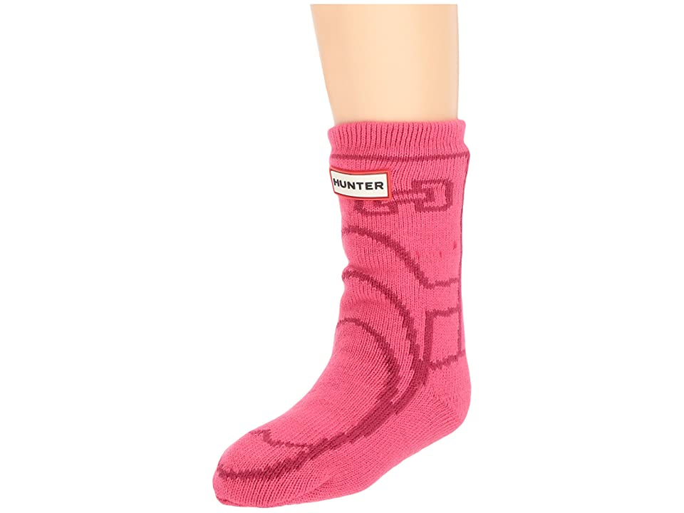 Hunter Kids Original Boot Slipper Socks (Toddler/Little Kid/Big Kid) (Bright Pink) Kids Shoes