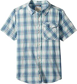 Lucky Brand Kids - Short Sleeve Yarn-Dye Plaid Shirt (Big Kids)