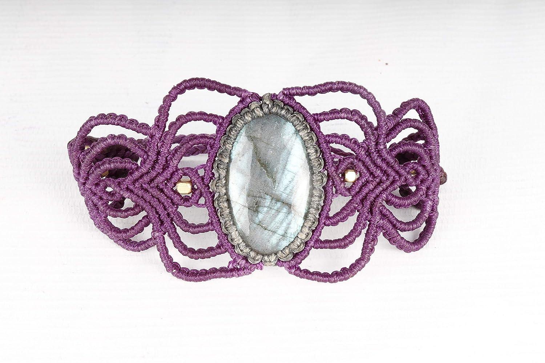 Handmade Macrame Bracelet Fashionable Jewelry labradorite 2021 Bohemia Cord Stone
