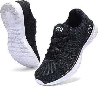 أحذية الركض STQ Road للنساء قابلة للتنفس المشي تنس أحذية رياضية مريحة شبكية أنيقة, (أسود), 39 EU