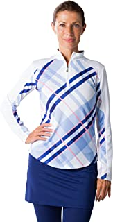 Women's SolCool UV 50 Long Sleeve Zip Mock Top with Vent Back