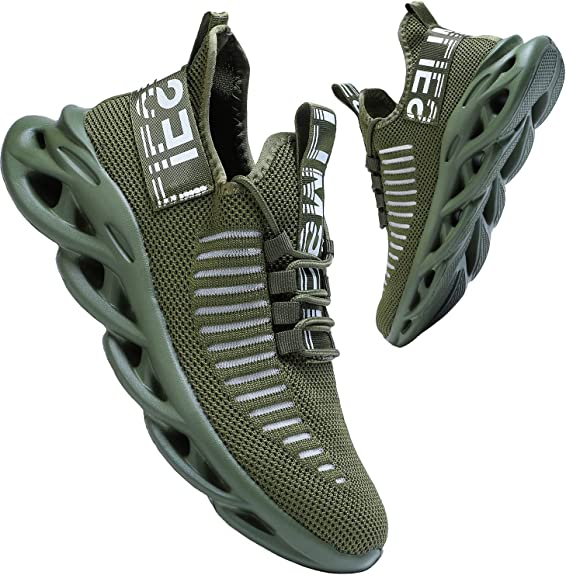 koppu Mens Womens Ultra Lightweight Slip-on Running Walking Shoes Fashion Sneakers Sport Shoes Casual Gym for Unisex Athletic Tennis Non-Slip Shoes