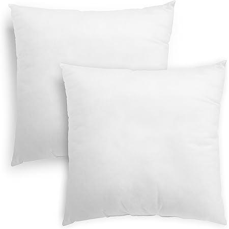 Sleeping Comfort 193909 Lot de 2 Coussins en Fibres, intérieurs pour Coussins de canapé, 50 x 50 cm, Blanc