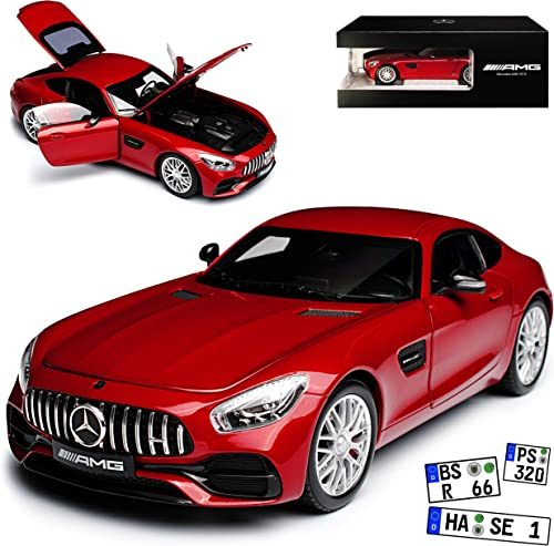Norev Mercedes-Benz AMG GT S Coupe Hyazinth Rot Metallic Ab 2014 1 18 Modell Auto