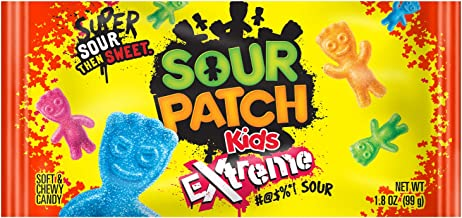 Sour Patch Kids Sweet and Sour Gummy Candy (Extreme, 1.8 Ounce Bag, Pack of 24)