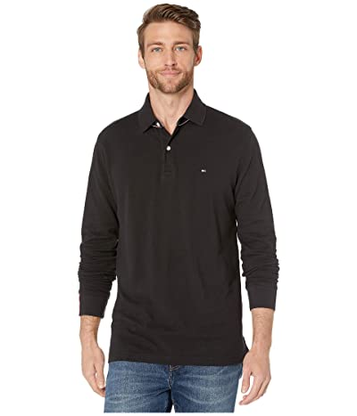 Tommy Hilfiger Kent Long Sleeve Polo Classic Fit (Jet Black) Men