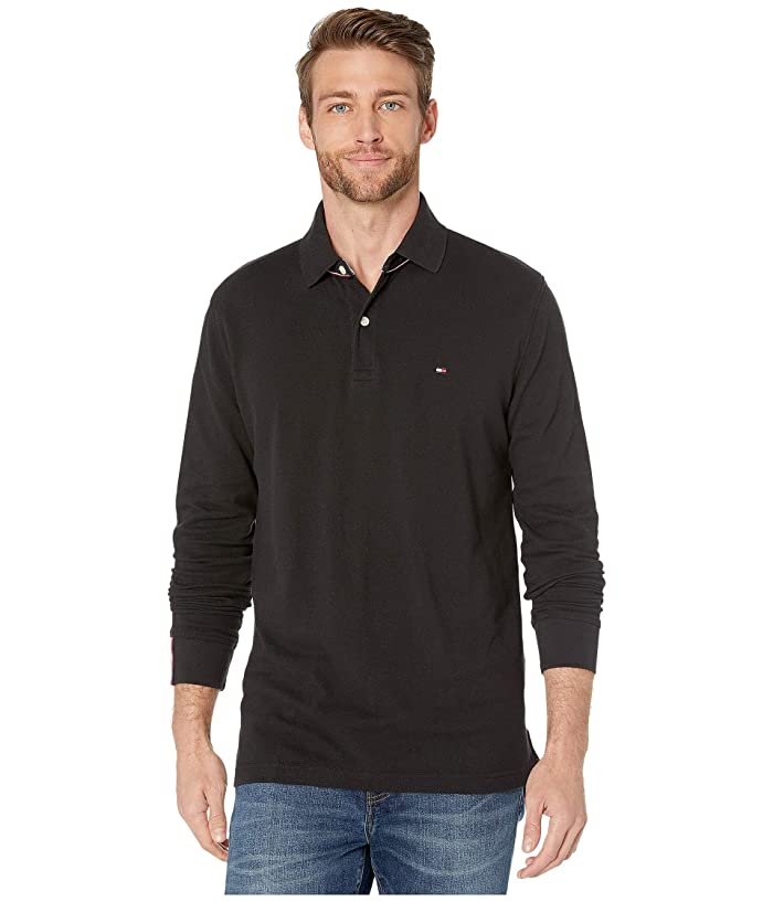 Tommy Hilfiger  Kent Long Sleeve Polo Classic Fit (Jet Black) Mens Clothing