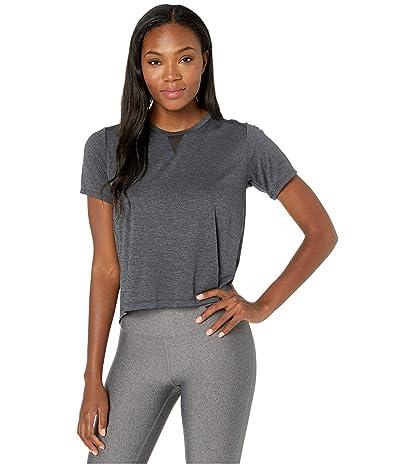 New Balance Impact Run Mesh Short Sleeve (Black Heather) Women