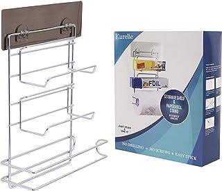 comprar comparacion Portarrollos de Cocina - (32H x 7,8W x 23D cm) 3 en 1 Montura Pared Autoadhesivo Portarrollos de Cocina con Estante - Sopo...