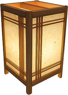 手作り角行灯300デザイン 和紙+塩ビプレート LED電球付 高さ30cm 職人手作り行灯 (吹寄せ組子) KAD300-009