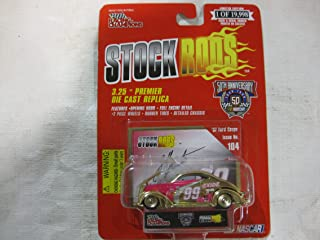 #99 Jeff Burton Exide Racing Team Gold Tone '37 Ford Coupe Issue #104 Die-Cast Replica NASCAR 50th Anniversary Series