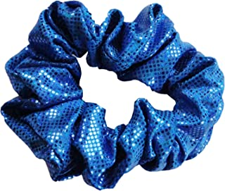 Cheer、体操和舞蹈 Scrunchie - 碎玻璃全息图 - 皇家蓝/皇家蓝