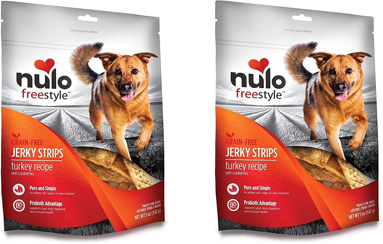 Nulo Freestyle 2 Pack of Grain-Free Genuine O 5 OFFicial store Treats Jerky Strips Dog