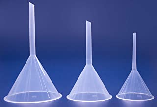 ISOLAB USA - Multipurpose Plastic Lab Funnels Laboratory Clear White Plastic Filter Funnel (Set of 3) (100-120-150 mm) Bottle Filling, Perfumes, Essential Oils.