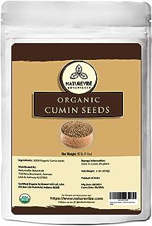 Naturevibe Botanicals Whole Cumin Seeds 1lb | Cuminum cyminum L. | Raw, Gluten-Free & Non-GMO | Adds Flavor and Taste... [...