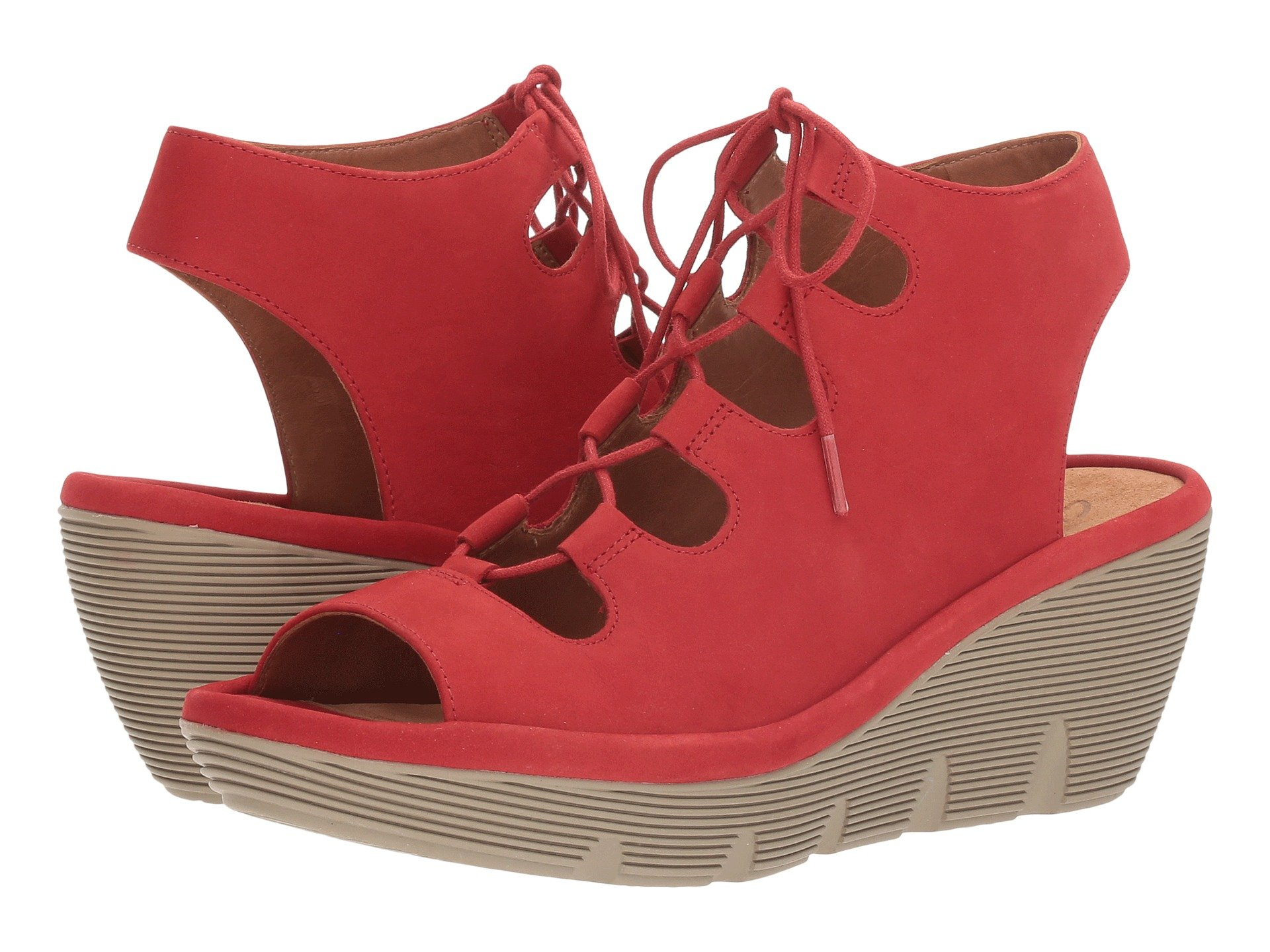 cc497820793 Clarks Clarene Grace In Red Nubuck