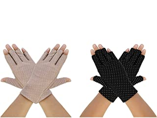 Sunblock Fingerless Gloves Women Driving Gloves UV Protection Summer Non Skid for Girls Outdoor