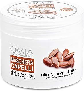 Omia Maschera per Capelli Eco Bio Con Olio di Semi di Lino, Trattamento Ristrutturante per Capelli Fragili e Secchi, Azion...