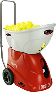 Lobster Sports – Elite Two Tennis Ball Machine – Triple Oscillation – Lightweight – Full-Featured Tennis Ball Hopper – 4- to 8-Hour Battery Life – 50-Degree Lobs – Optional Accessories