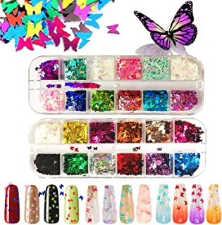 Flame Reflections Nail Stickers - 16PCS Halloween Holographic Fire Flame Nail Art Decals DIY Nail Foils Tape Adhesive Decoration for Nails Manicure