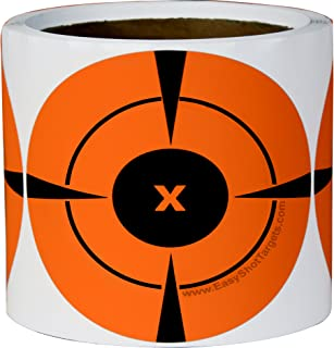 200 Mega-Pack 4-Inch Bullseye Target Stickers | Buy 1 Roll & Get 1 Free (100 Targets Per Roll - You Get a Whopping 200 Total) Neon Orange Self-Adhesive Targets for Shooting