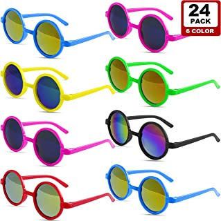 GINMIC Kids Sunglasses Party Favors, 24Pack 60's Style UV...