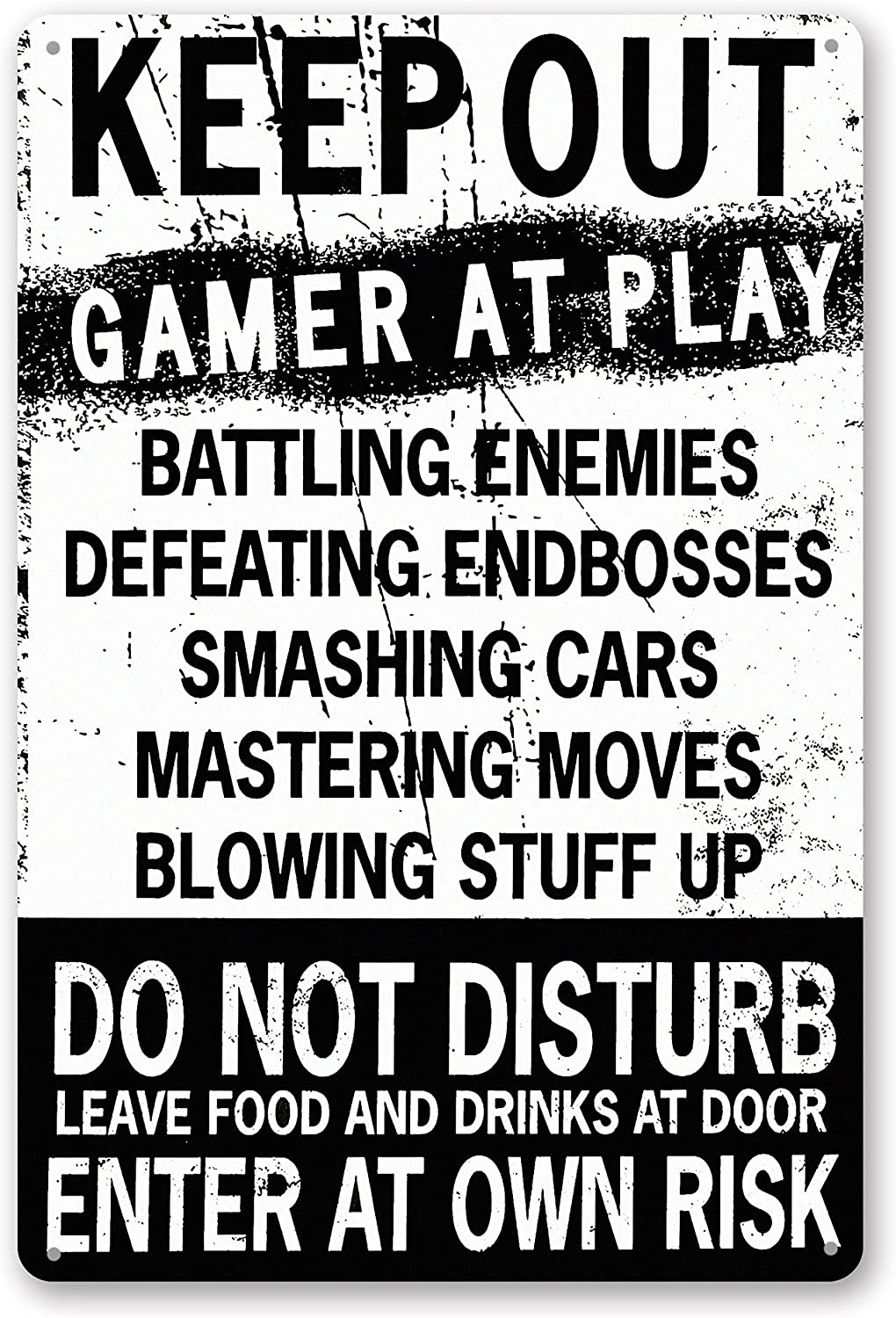 TINSIGNS Keep Out Gamer at Play online shopping Geek Enter Risk Own Computer At the price