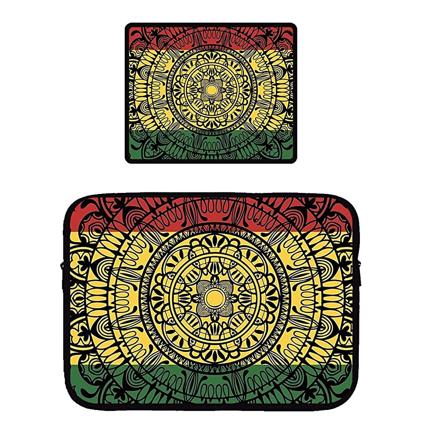 Beach Surfers Rasta Monladax Gaming Mouse Pad & Laptop Sleeve Bag Case Protector Computer Bag Case Mousepad for Apple MacBook Air/Notebook/Netbook/Chromebook