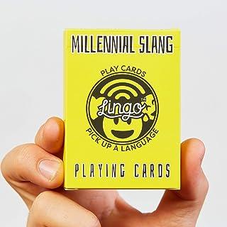 Millennial Slang Playing Cards - Lingo Playing Cards   Language Learning Game Set   Fun Visual Flashcard Deck To Increase ...