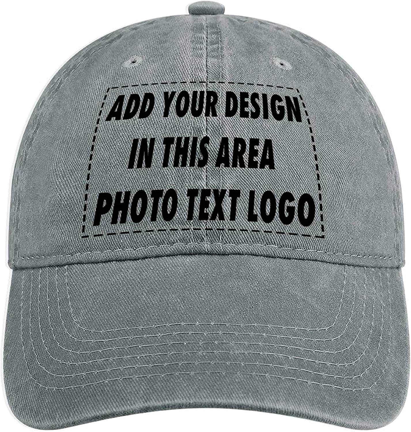Unisex Custom Cowboy Hat Dad Baseball Caps Add Your Photo Text Logo Personalized Design Your Own Hat