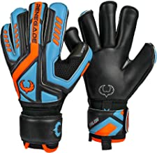 Renegade GK Talon Goalie Gloves with Microbe-Guard (Sizes 5-11, 5 Styles, Level 3) Pro-Tek Fingersaves & 3.5+3MM Hyper Gri...